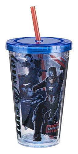 Vandor 26015 Marvel Captain America Civil War 18 Ounce Acrylic Cup, Multicolored (Wars Cups)