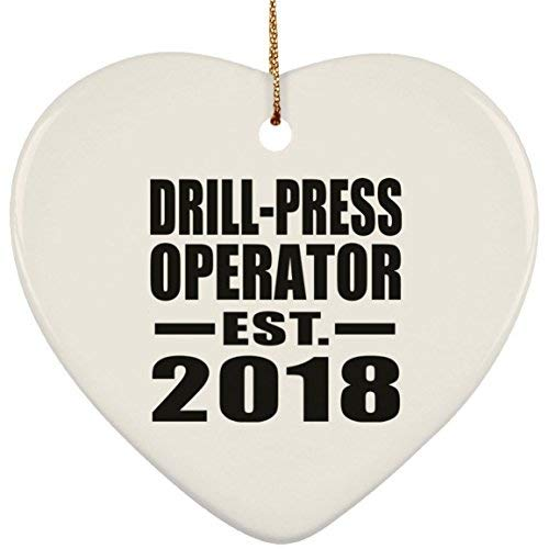 Enid545Anne Drill-Press Operator Established EST. 2019 Heart Ornament, Christmas Tree Decor, Best Gift for Birthday, Anniversary, Easter, Valentine's Mother's Father's Day