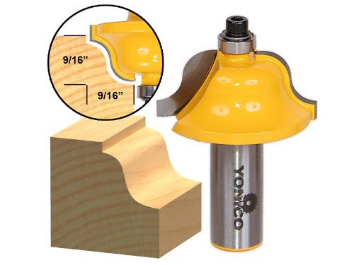 Router 1/2 Ogee Cutter Industrial - Yonico 13184 9/16-Inch Roman Ogee Edge Forming Router Bit 1/2-Inch Shank