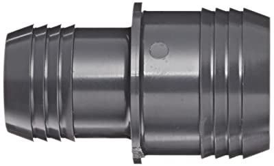 Spears PVC Tube Fitting, Coupling, Schedule 40, Gray, Barbed