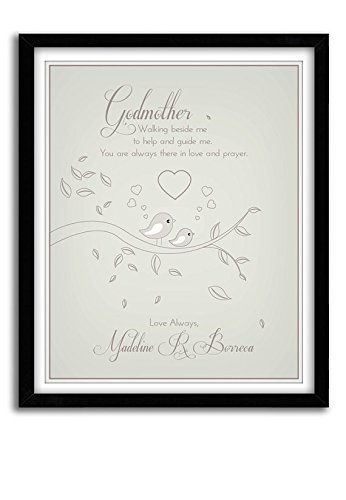 Amazon.com: Gift For GODPARENTS, Dedication Gift, Godmother Gift ...