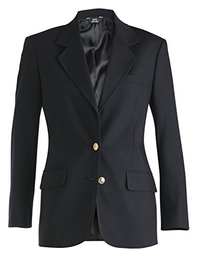 Hopsack Navy Blazer - Averill's Sharper Uniforms Women's Ladies Resort Hotel Hopsack Blazer 18 Navy