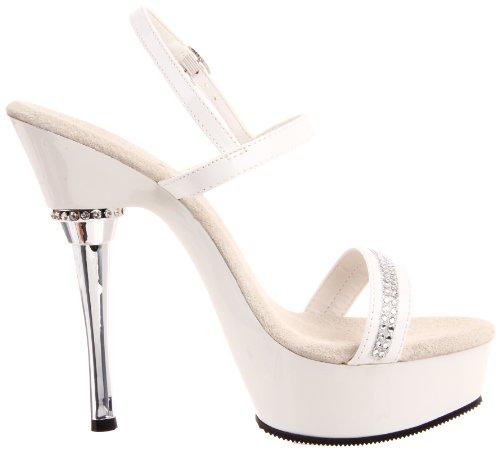 Pleaser Allure-617 - Plataforma Mujer Blanco(Blanc)