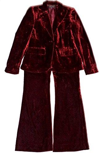 ANNE KLEIN Velvet Golden Sapphire 2-PC Jacket/Pant Suit