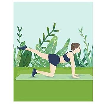 XIGZI Chica Haciendo Yoga en una Estera de Yoga Pintura DIY ...