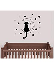 Cat & Moon Decal Wall Stickers