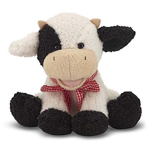 Melissa & Doug Meadow Medley Calf - Stuffed Animal Baby Cow With Moo Sound Effect (Black Stuffed Cow)