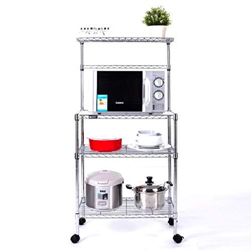 Vajilla Secado Estante de horno de microondas Estante de cocina Estante de almacenamiento de múltiples capas de cuatro capas...