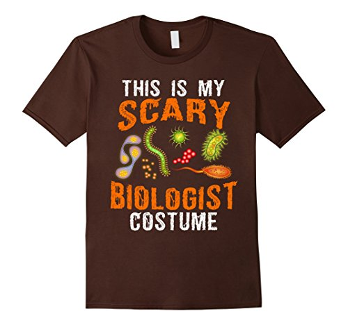 Mens OFFICIAL Scary Halloween Costume for Biologist T-shirt 2XL Brown (Biologist Halloween Costume)