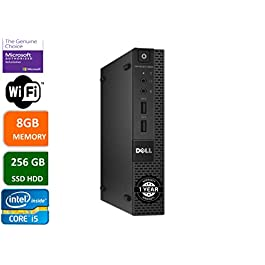 Dell Optiplex 9020 Ultra Small Tiny Desktop Micro Computer PC (Intel Core i5-4590T, 8GB Ram, 256GB Solid State SSD, WiFi…