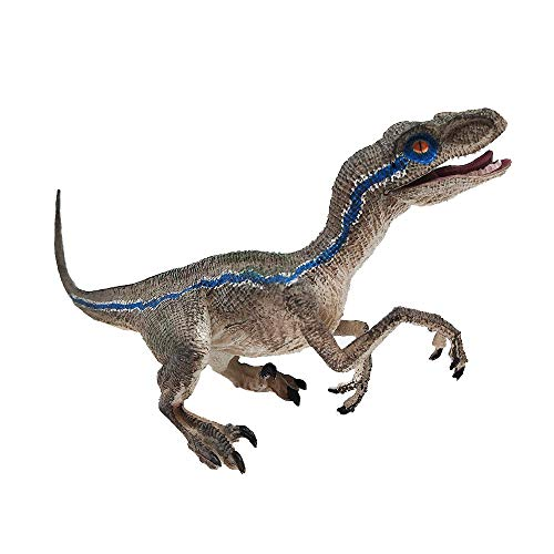 Toys & Hobbies Action & Toy Figures Blue Velociraptor Dinosaur Action Figure Animal Model Toy Collector from Lnicesky