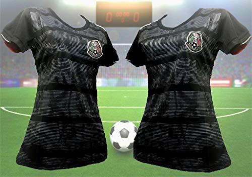 De Lion Designs Woman Mexico Black Negra Copa Oro 2019 Jersey