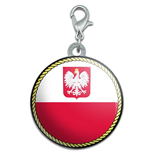 - Flag of Poland with Coat of Arms Stainless Steel Pet Dog ID Tag
