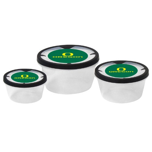 Round Oregon Ducks - NCAA Oregon Ducks Round Plastic Storage Containers (3-Piece)