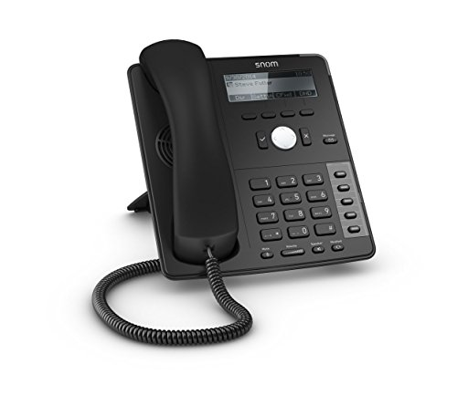Snom SNO-D715 Professional Sip Desk Telephone Voip Phone and Device, Black by Snom