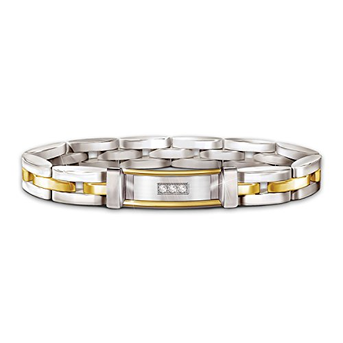 Today, Tomorrow And Always My Love Diamond Stainless Steel Bracelet by The Bradford Exchange