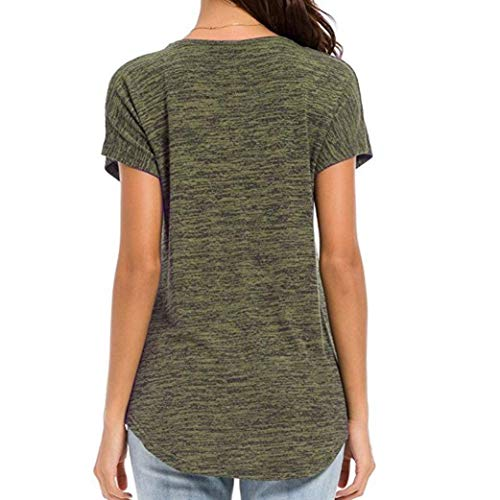 Basic Casual Relaxed Neck Camicetta Magliette Fashion Shirts Estivi Donna Huixin Eleganti Zip Bluse V Vintage Gr Lunga Manica Ragazza Corta nX1qUXOx6w