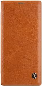 غطاء حماية جلد قابل للطي لهاتف سامسونج جالكسي نوت 10 من نيلكين - بني
