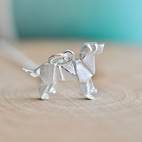 - Origami Dog Necklace in Sterling Silver with 16 Inch Chain