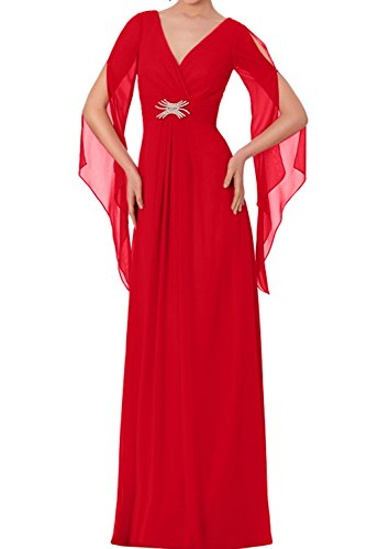 Rot Promkleider Rot Partykleider Elegant 2017 Ivydressing Neu Chiffon Abendkleider Lang 8EwqBzx