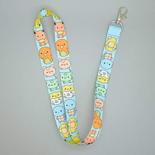 VIZIKS Dog Pikchu Mimikyu Eevee Hatsune Miku Keys Neck Strap Lanyard Pcxb -Multicolor Complete Series Merchandise -