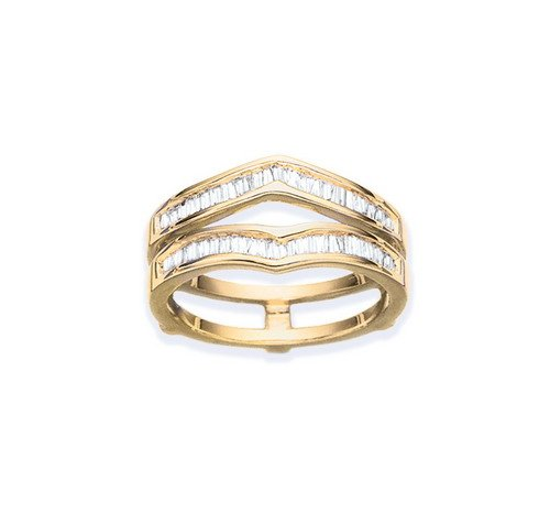 Baguette Cut Diamond Ring Guard in 14K Yellow Gold (3/8 cttw)
