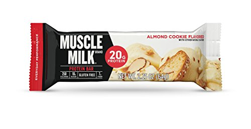 - Muscle Milk Protein Bar, Almond Cookie, 20g Protein, 12 count