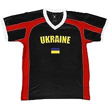 Ukraine Country Flag Men's Soccer Style Sport T-Shirt, Amdesco