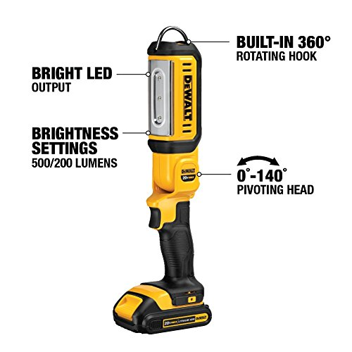 DEWALT 20V MAX LED Work Light, Hand Held, Tool Only (DCL050)