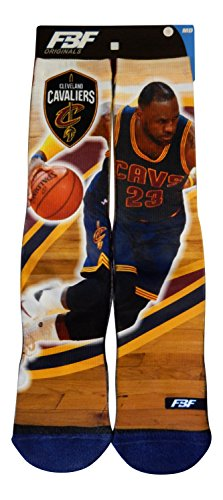 Lebron James Cleveland Cavaliers Center Court II Socks (3 Sizes Available) (Youth 13, 1-5)