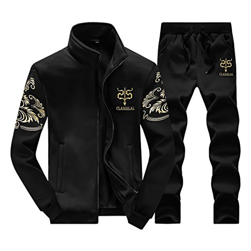 Rocky Sun Mens Tracksuit Fleece Slim Joggers Pants Bottoms & Zipper Jacket Top