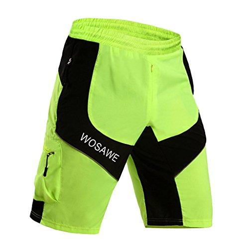 評決いちゃつく空虚Baosity メンズ サイクルパンツ サイクリングウエア 吸汗速乾 通気 UVカット 自転車パンツ 全5サイズ