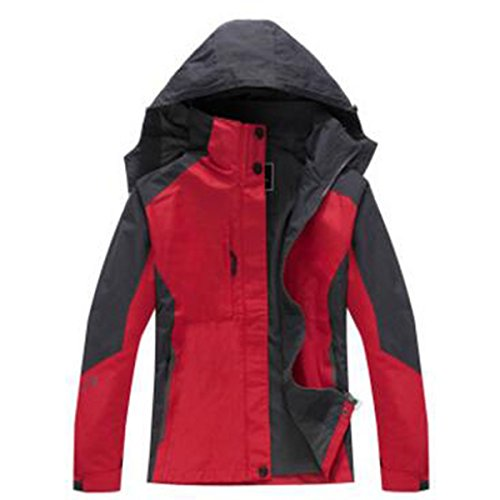 WU LAI Mujeres Chaquetas Chándal Al Aire Libre Impermeable Usable Sola Capa Red