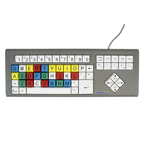 (Ablenet BigKeys LX, Multi-Color QWERTY keyboard, Large Letters compatible with PC and MAC  - Product Number: 12000009)