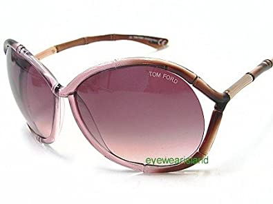 3840fe4bf60 Amazon.com  Tom Ford Claudia TF75 TF 75 341 Transparent Brown Pink ...