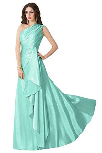 sunvary elegante un hombro una línea dama de invitados para boda vestidos novia Verde