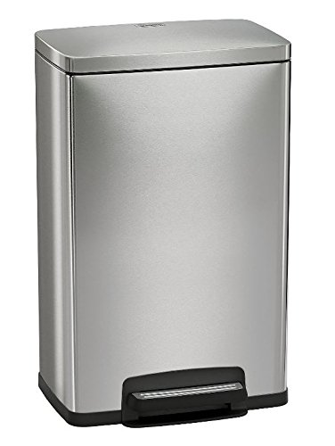 Tramontina Step on Waste Can, Stainless Steel Trash Can Step Can 13 Gallon Large Capacity (1 Trash Can)