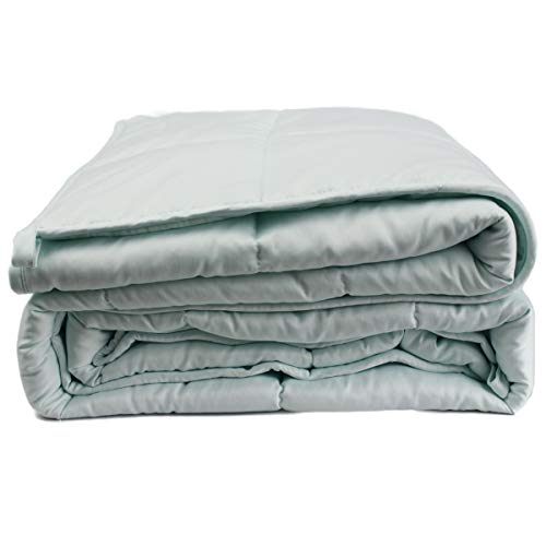 Cheap Dreambeauty Cooling Weighted Blanket for Summer Used Mint Green Color with Glass Beads Premium Weighted Blankets for Great Deep Sleep (48