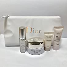 Dior Capture Total Travel Set with lovely white cosmetics cushion pouch