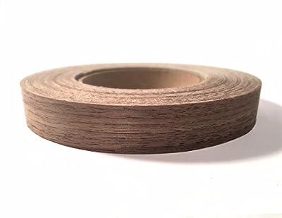 "Walnut Wood Veneer Edgebanding Preglued 3/4"" X 50' Roll - Made in USA"
