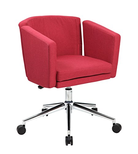 Boss Office Products Metro Club Desk Chair, Marsala Red by Boss Office Products