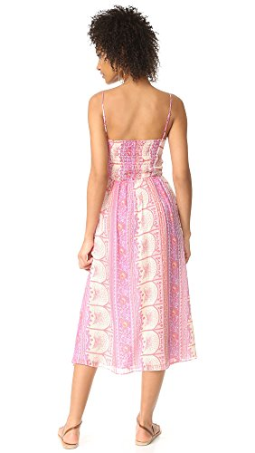 LOVESHACKFANCY Women's Jenna Dress, Sherbert, Small