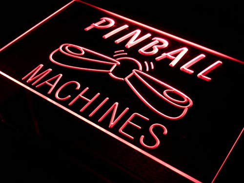 ADVPRO Cartel Luminoso s079-r Pinball Machines Bar Beer Pub ...