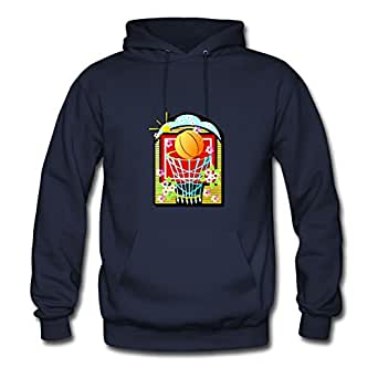 Basketball Style Personality X-large Hoody Women Cotton For Navy