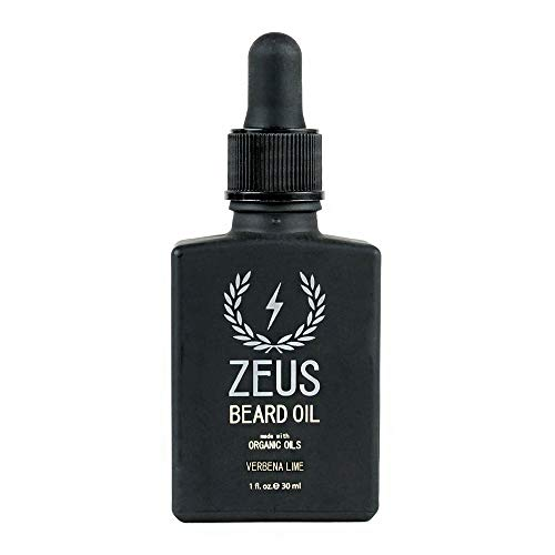 ZEUS Beard Oil made with Organic Oils - Natural Oil for Men in Gift Tin - Verbena ()
