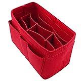 Purse Organizer Insert Felt Bag Handbag Tote Organizer for Speedy Neverfull Longchamp Gracefull, 5 Sizes