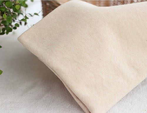 Luz Natural marrón de algodón orgánico tejido de punto doble A tejidos de algodón marca de ropa de bebé 50CMX160CM: Amazon.es: Hogar