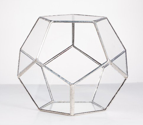 (Glass Planter Best Quality - Flower Pots & Planters - Tabletop Geometric Pentagon Ball Globe Shape Open Glass Terrarium Box Fern Moss Succulent Plants Container Planter Flower Pots - by GTIN - 1 PCs)