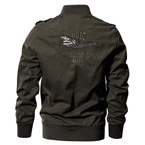 Militaire Tactique Manteau de Veste de l'armée Pilote Jackets Air Force Flight Cargo Coat 7