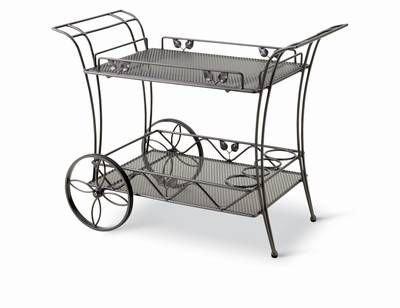 MWH Royal Garden Accessoires Servierwagen mit abnehmbarem Metall ...